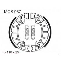 Ganasce freno posteriore front 110x25mm include springs PIAGGIO/VESPA SFERA 1 SFERA 2 50/80 1991-